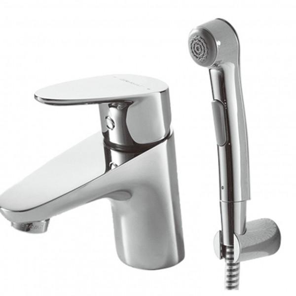 Смеситель Bravat Drop для раковины с гигиеническим душем