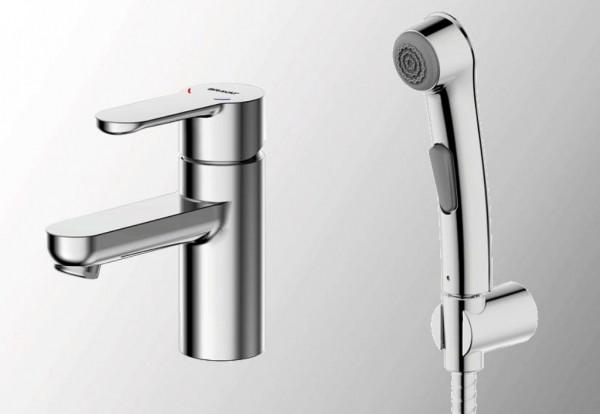 Смеситель Bravat Stream для раковины с гигиеническим душем