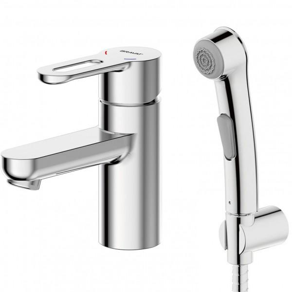 Смеситель Bravat Stream-D для раковины с гигиеническим душем