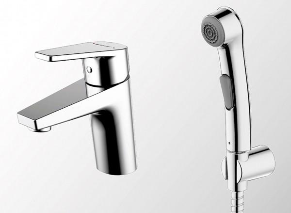 Смеситель Bravat Line для раковины с гигиеническим душем