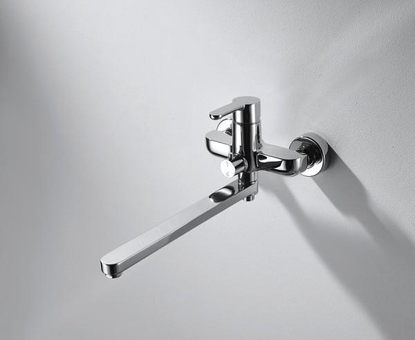 Смеситель Bravat Stream для ванны с длинным изливом (без аксессуаров)