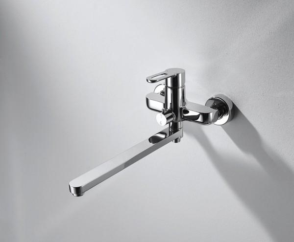 Смеситель Bravat Stream-D для ванны с длинным изливом (без аксессуаров)