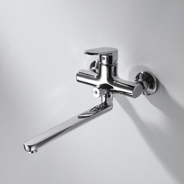 Смеситель Bravat Pure для ванны с длинным изливом (без аксессуаров)