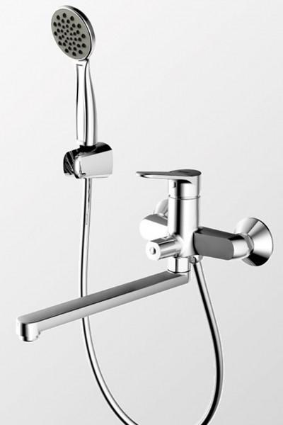 Смеситель Bravat Eco для ванны с длинным изливом (с аксессуарами)