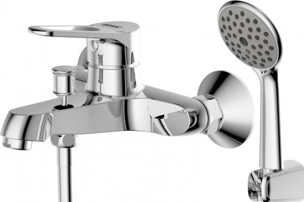 Смеситель Bravat Eco-D для ванны с коротким изливом (с аксессуарами)