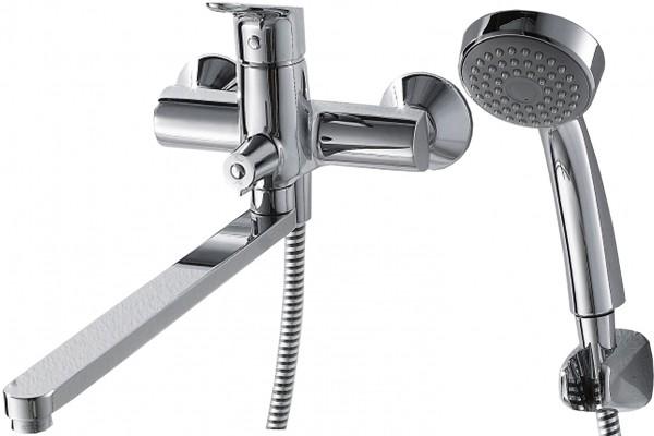 Смеситель Bravat Drop для ванны с длинным изливом (с аксессуарами)