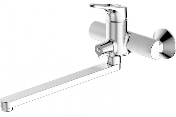 Смеситель Bravat Drop-D для ванны с длинным изливом (без аксессуаров)