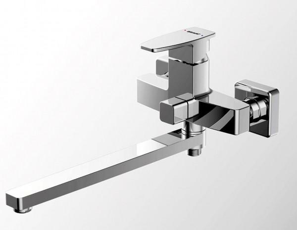 Смеситель Bravat Riffle для ванны с длинным изливом (без аксессуаров)