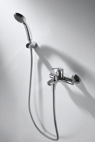 Смеситель Bravat Drop-D для ванны с коротким изливом (с аксессуарами)
