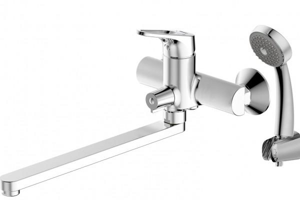 Смеситель Bravat Drop-D для ванны с длинным изливом (с аксессуарами)