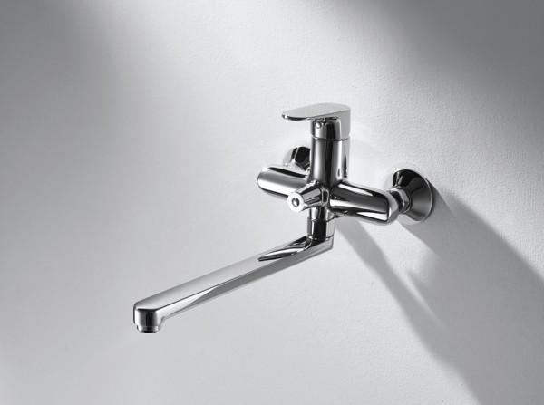 Смеситель Bravat Alfa для ванны с длинным изливом (без аксессуаров)