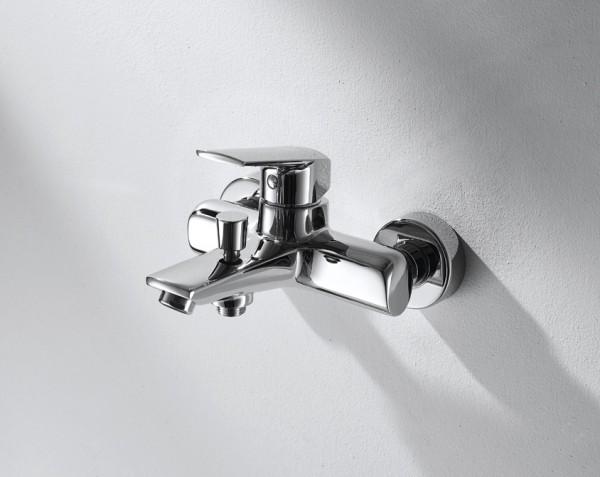 Смеситель Bravat Real для ванны с коротким изливом (без аксессуаров)