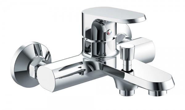 Смеситель Bravat Pure для ванны с коротким изливом (без аксессуаров)