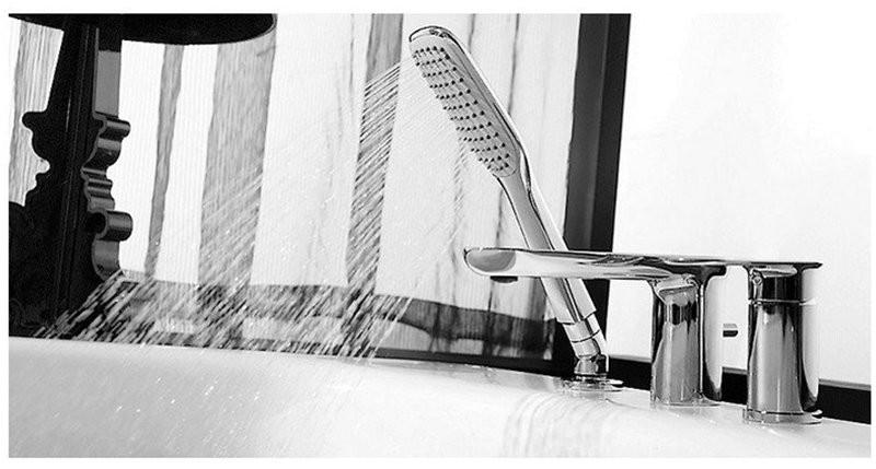 Смеситель Bravat Gina для ванны врезной на 3 отверстия