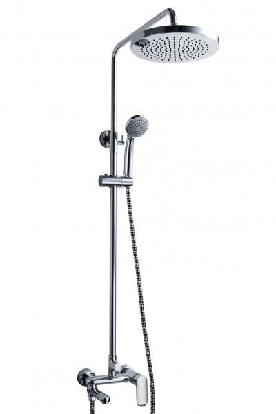 Душевая колонна со смесителем для ванны с поворотным изливом Bravat Opal C