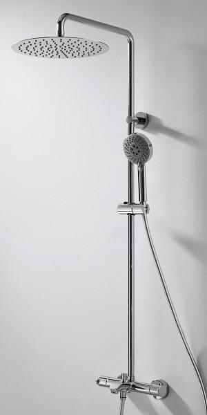 Душевая колонна с термостатом для ванны и металлическим вернхним душем Bravat Waterfall
