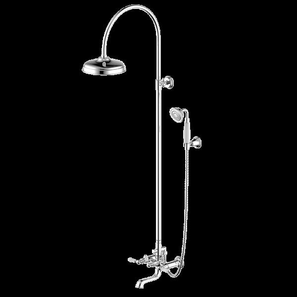 Душевая колонна со смесителем для ванны Bravat Art