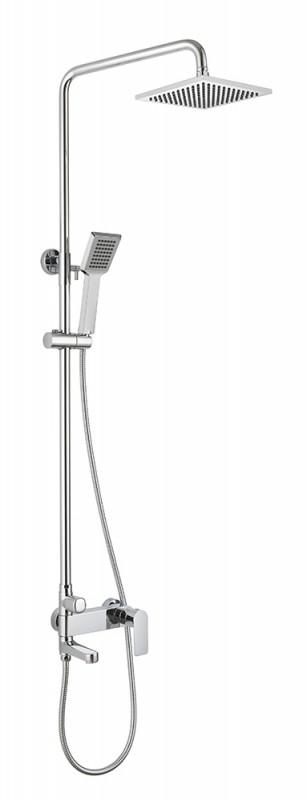 Душевая колонна со смесителем для ванны Bravat Real