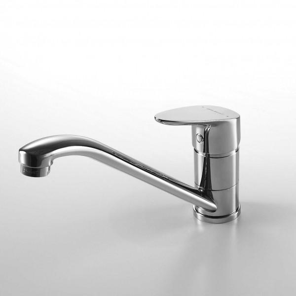 Смеситель для кухни Bravat Drop низкий с изливом 220 мм