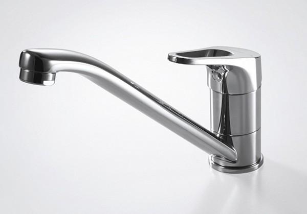 Смеситель для кухни Bravat Drop-D низкий с изливом 220 мм