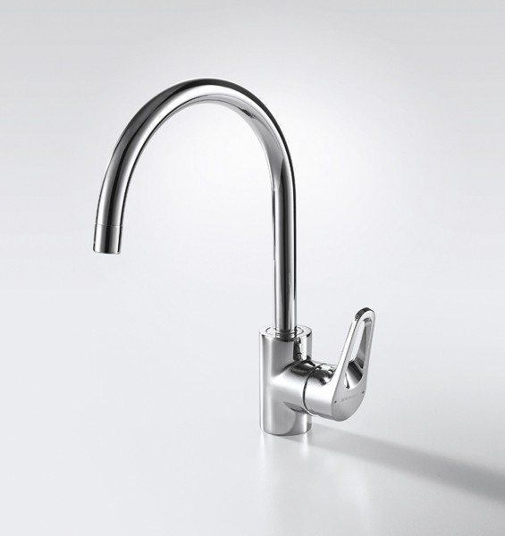 Смеситель для кухни Bravat Drop-D с высоким поворотным изливом