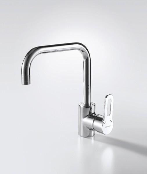 Смеситель для кухни Bravat Stream-D с высоким поворотным изливом