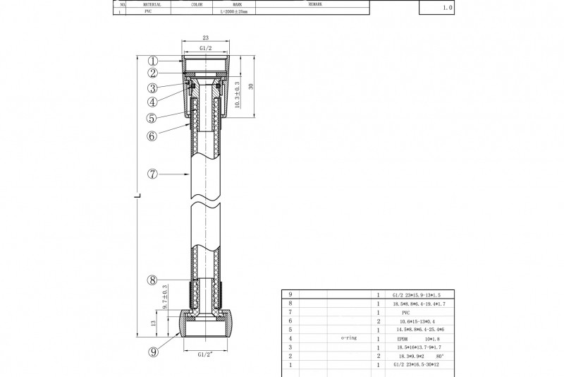 Душевой шланг Bravat P7231N-1-RUS