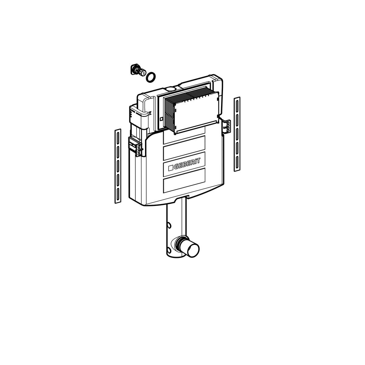 Смывной бачок скрытого монтажа Geberit Sigma 12 см, 6/3 литра