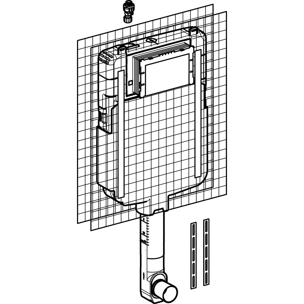 Смывной бачок скрытого монтажа Geberit Sigma 8 см, 6/3 литра