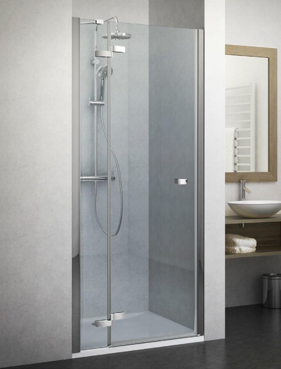 Дверь в нишу CORNER ELEGANT BR 800 L/800*2008 brillant/transparent/6mm