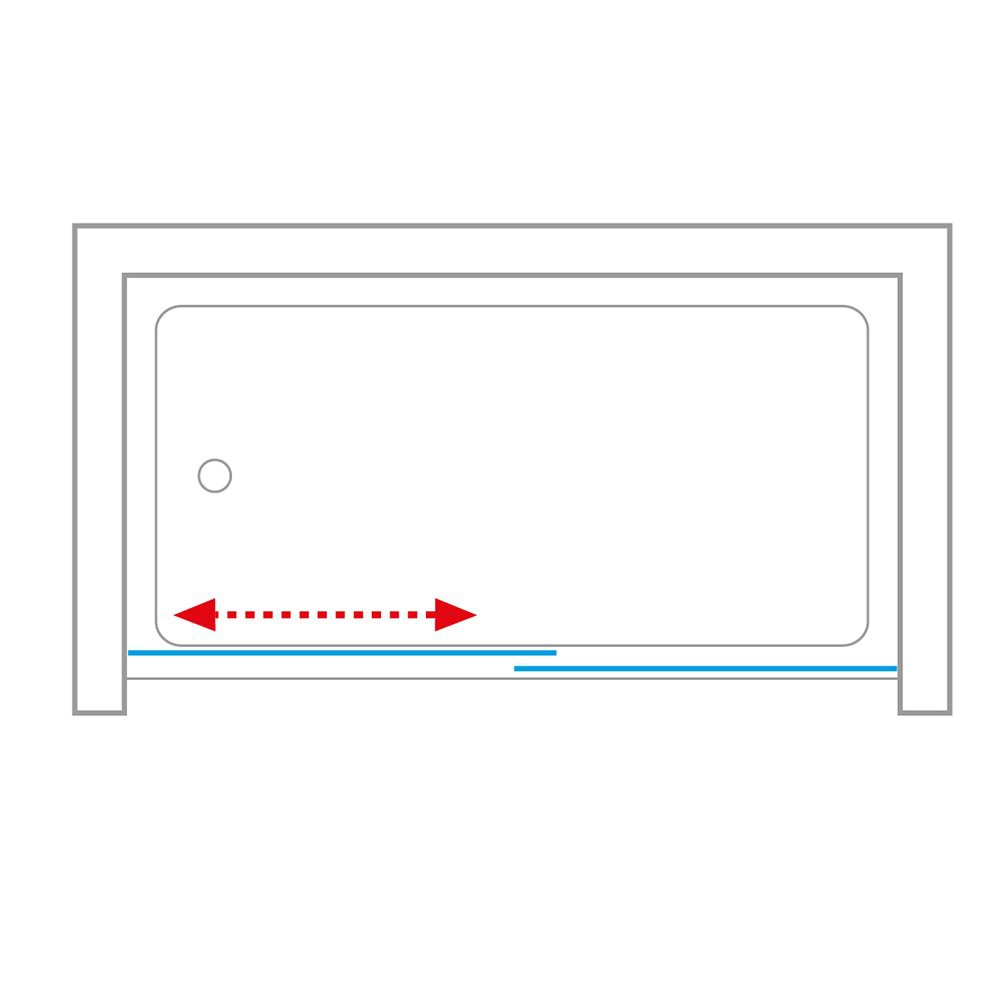 Шторка для ванн LLV2/1600 1600*1500 brillant/transparent/5-4mm