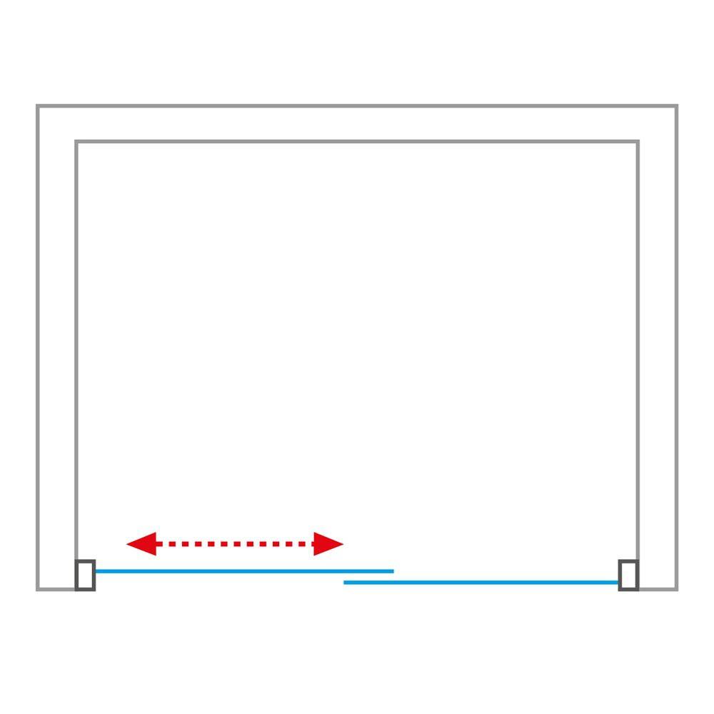 Душевая дверь PROXIMA PXD2N/1200 1200*2000 brillant/satinato/6mm