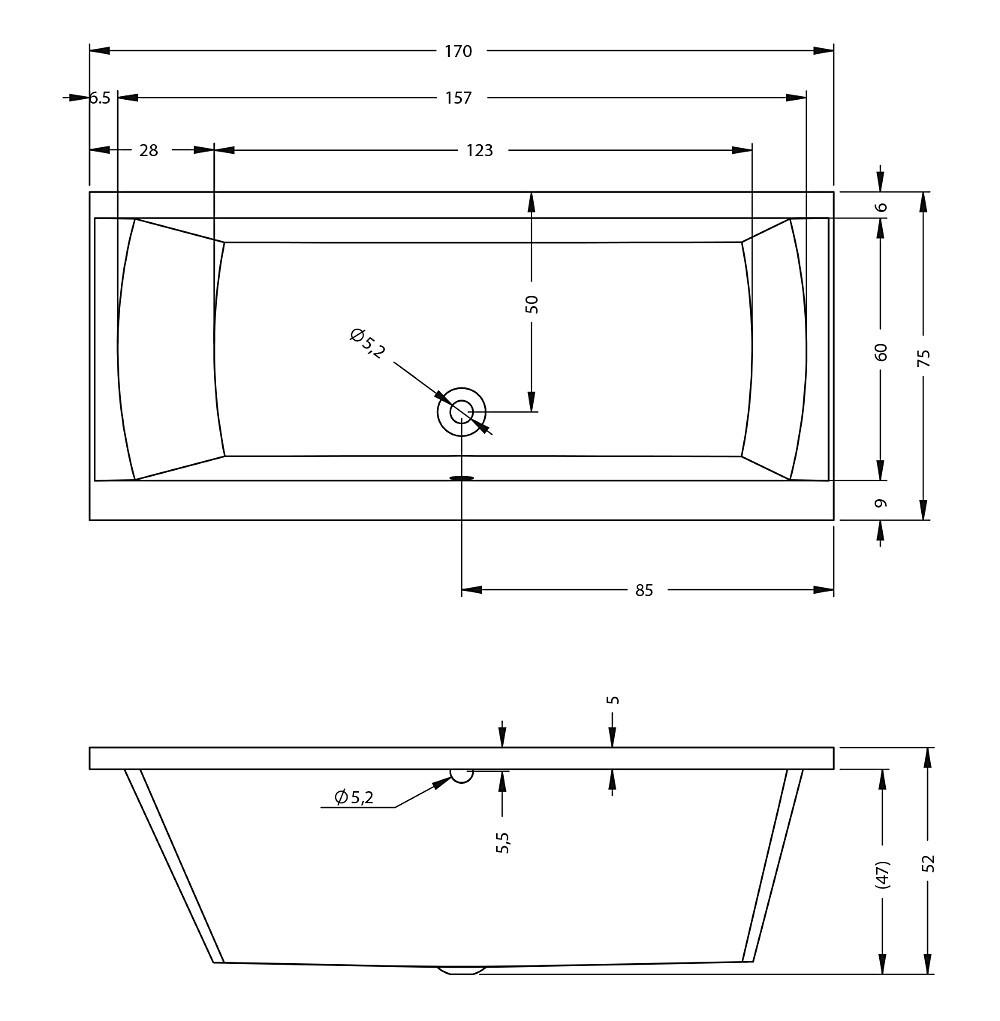 Акриловая ванна Riho Julia 170