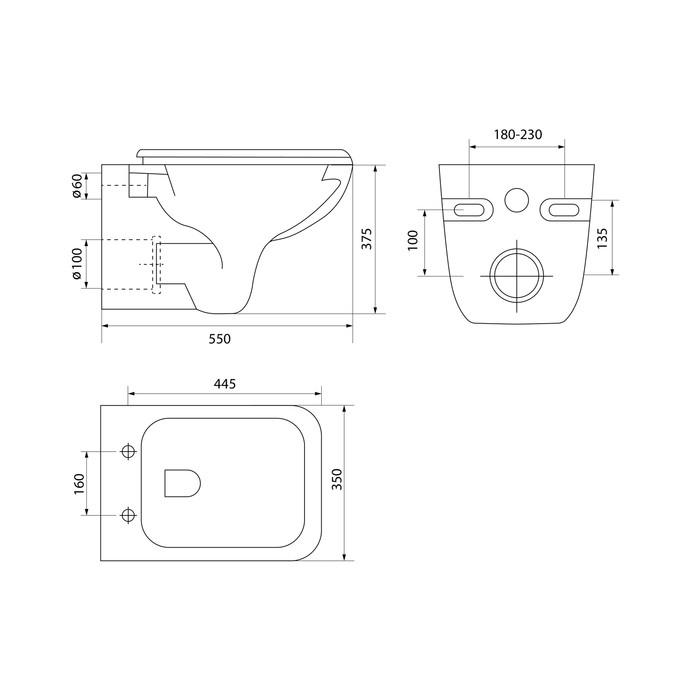 Унитаз подвесной Iddis Vibe с сиденьем-микролифт