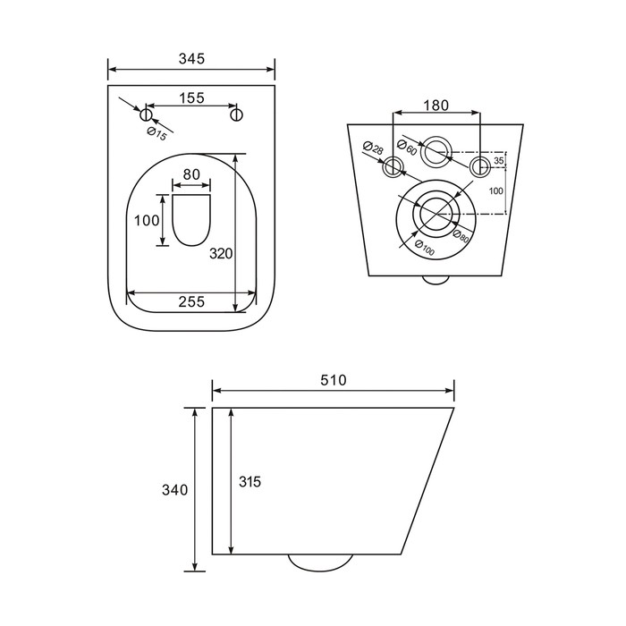 Унитаз подвесной Iddis Bild с сиденьем-микролифт