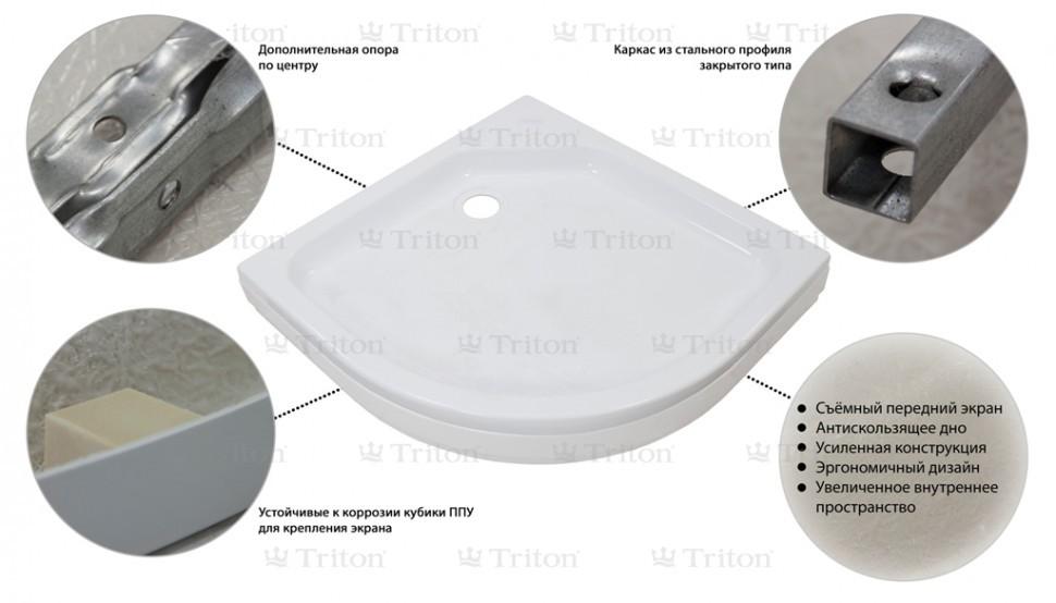 Душевой поддон Тритон ПД2 90*90 низкий (170 мм)