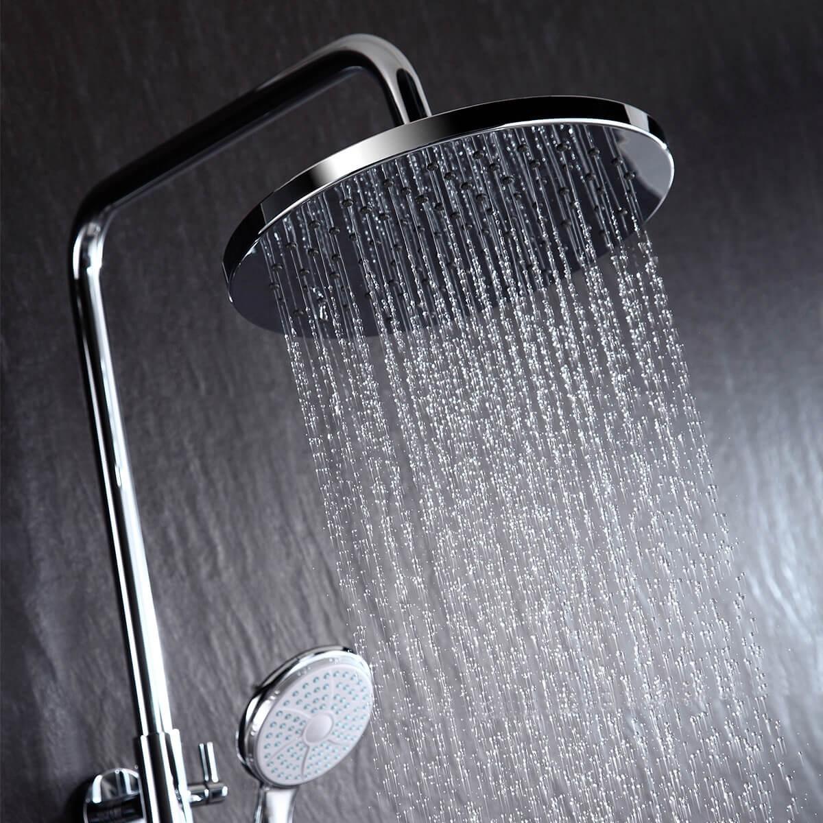 Душевая стойка Lemark Linara с верхним душем и поворотным изливом