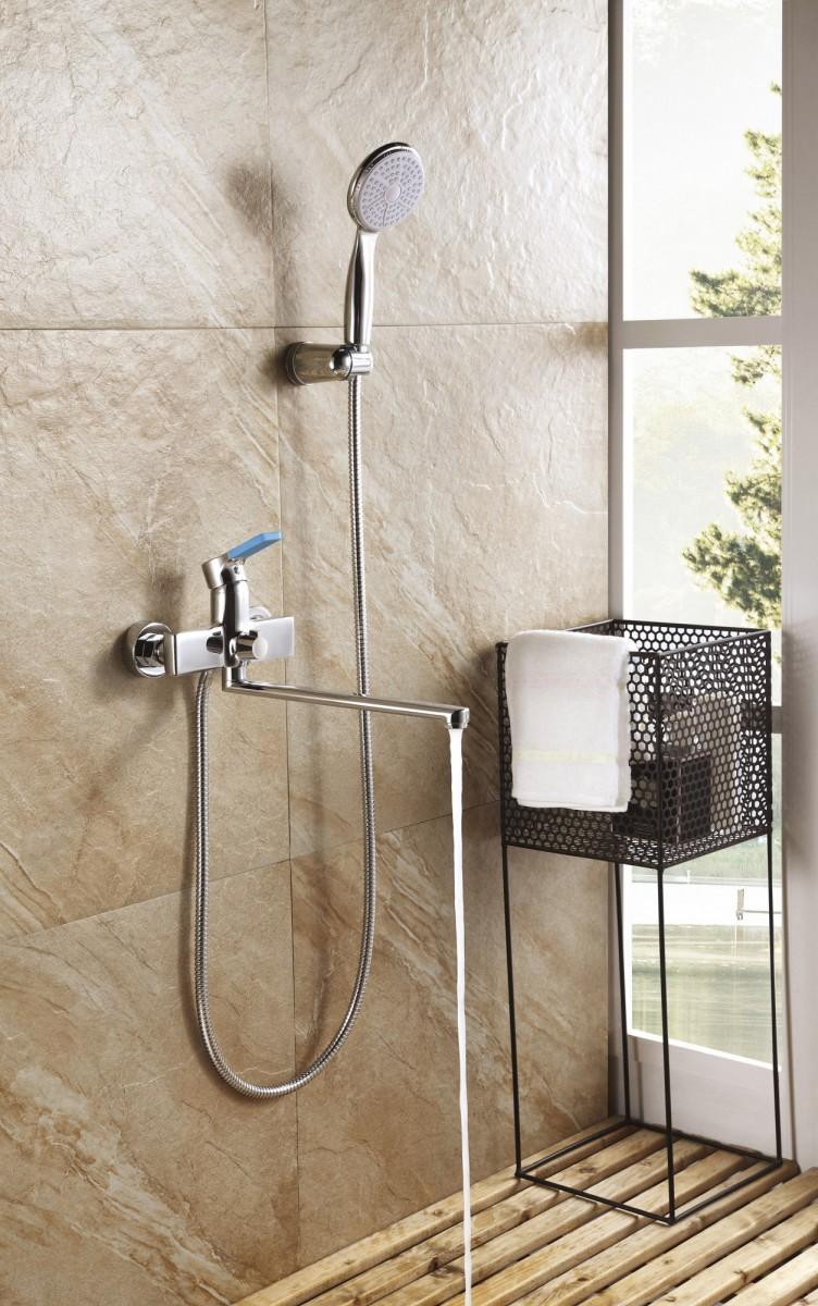Смеситель для ванны Lemark Aura с длинным изливом