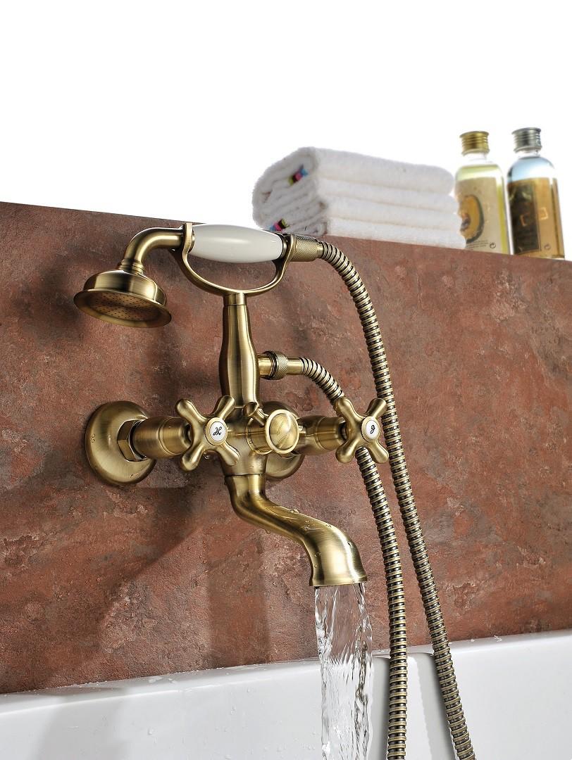 Смеситель для ванны Lemark Vintage с коротким изливом, бронза
