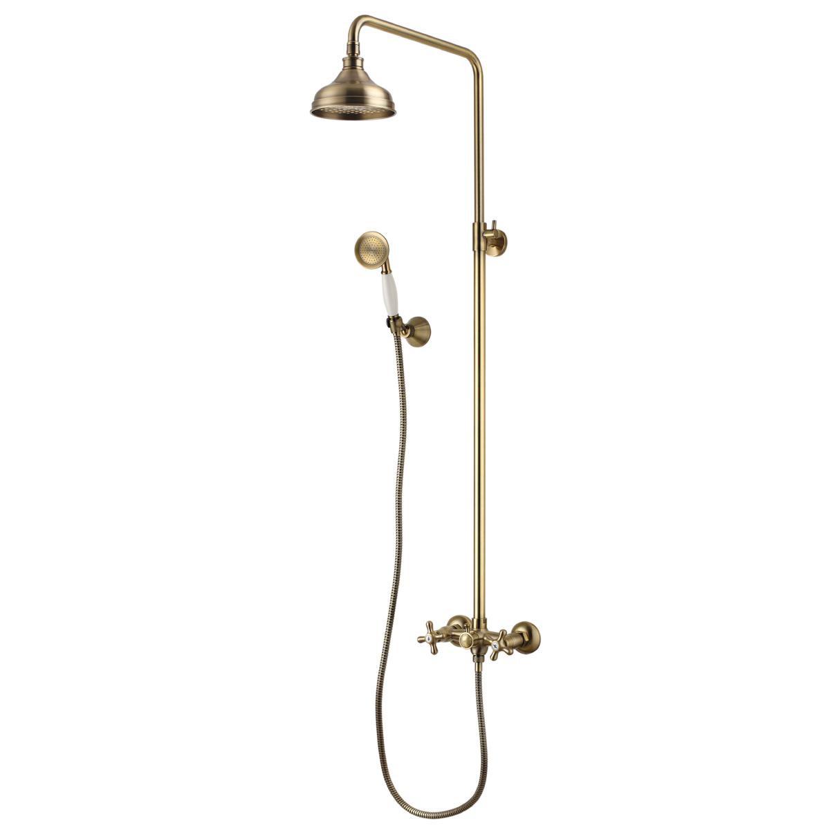 Душевая стойка Lemark Vintage с верхним душем, бронза