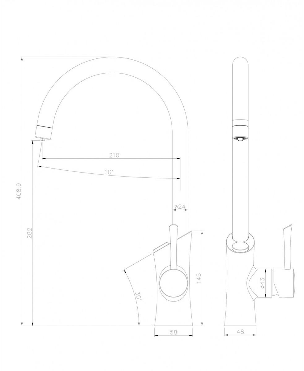 Смеситель для кухни Lemark Comfort LM3072C с подключением к фильтру