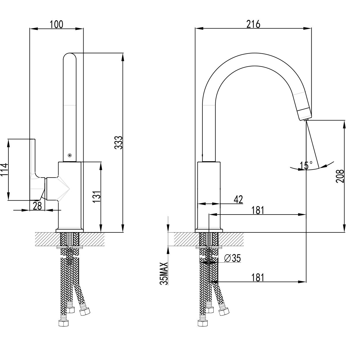 Смеситель для кухни Lemark Comfort LM3073C с подключением к фильтру