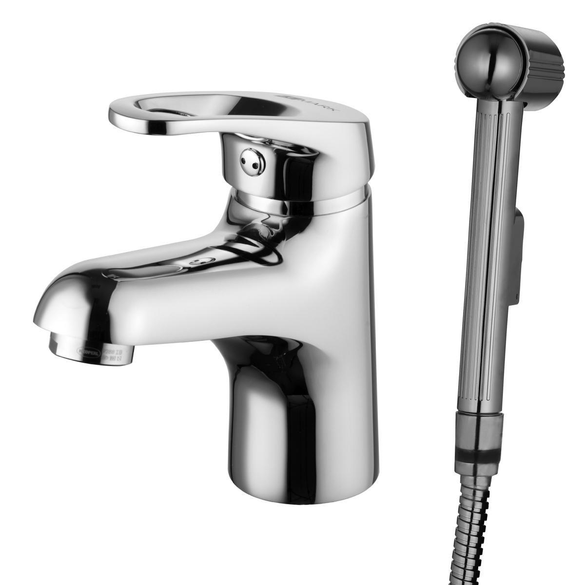 Смеситель для умывальника Lemark Omega с гигиеническим душем