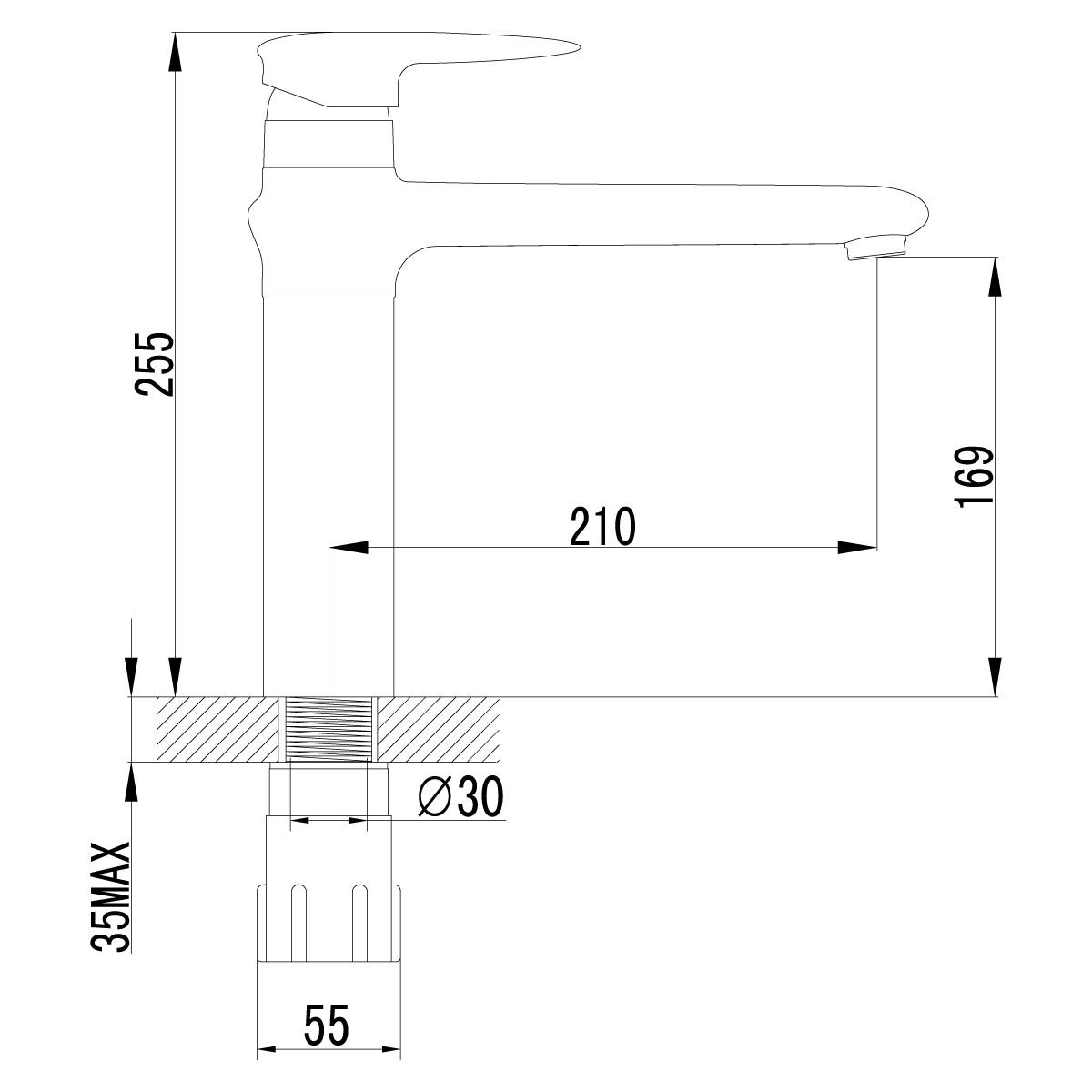Смеситель для кухни Lemark Status LM4404C с поворотным изливом
