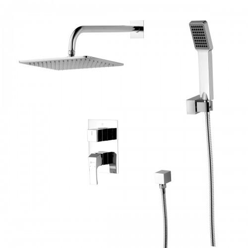 Смеситель для ванны и душа Lemark Unit без излива встраиваемый