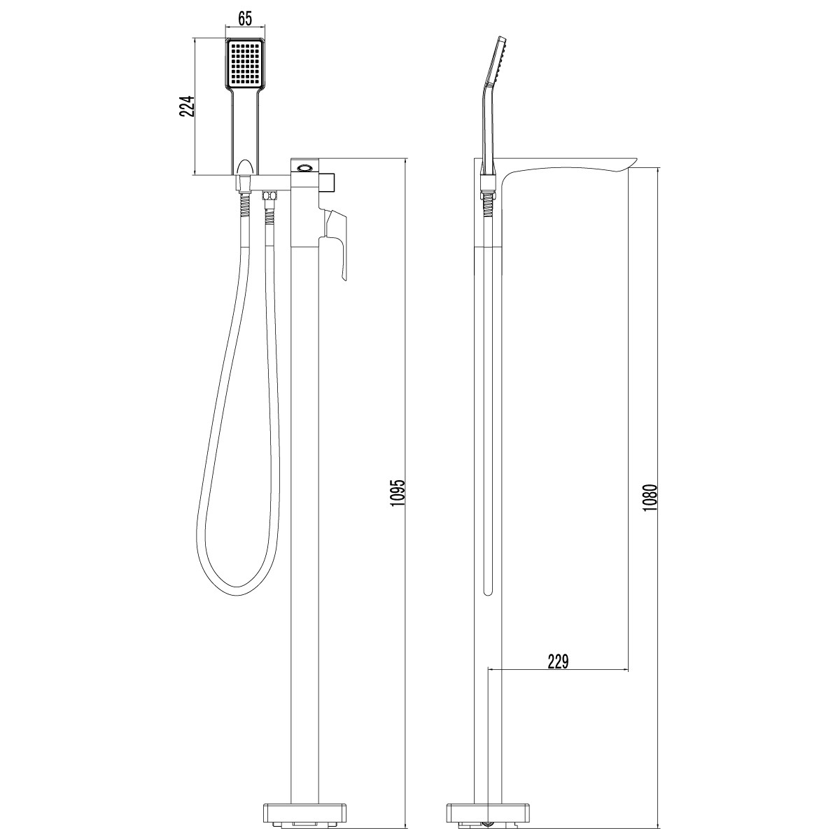 Смеситель для ванны Lemark Unit напольный