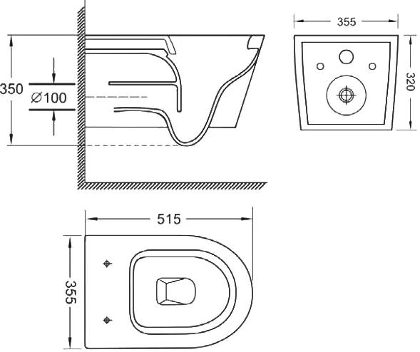 Подвесной унитаз Teka Nexos с крышкой микролифт безободковый
