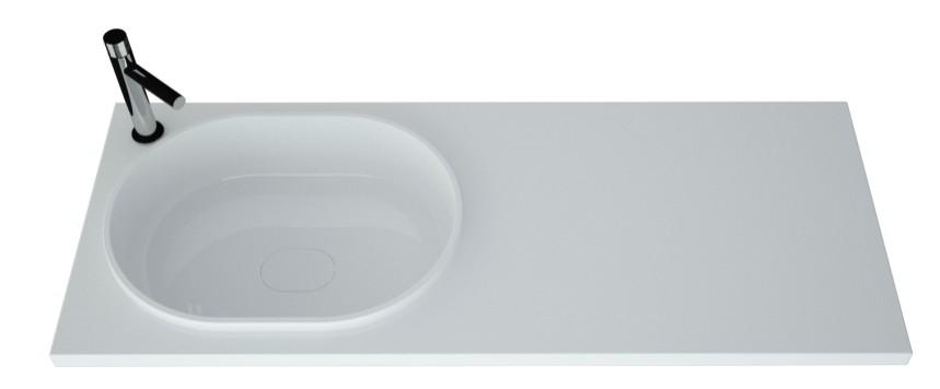 Раковина под стиральную машину Andrea Bruks Левая (отверстие под смеситель) 1200х480 мм