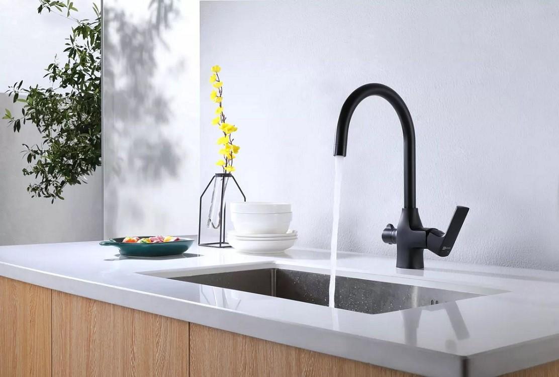 Смеситель для кухни Lemark Ursus с подключением к фильтру с питьевой водой