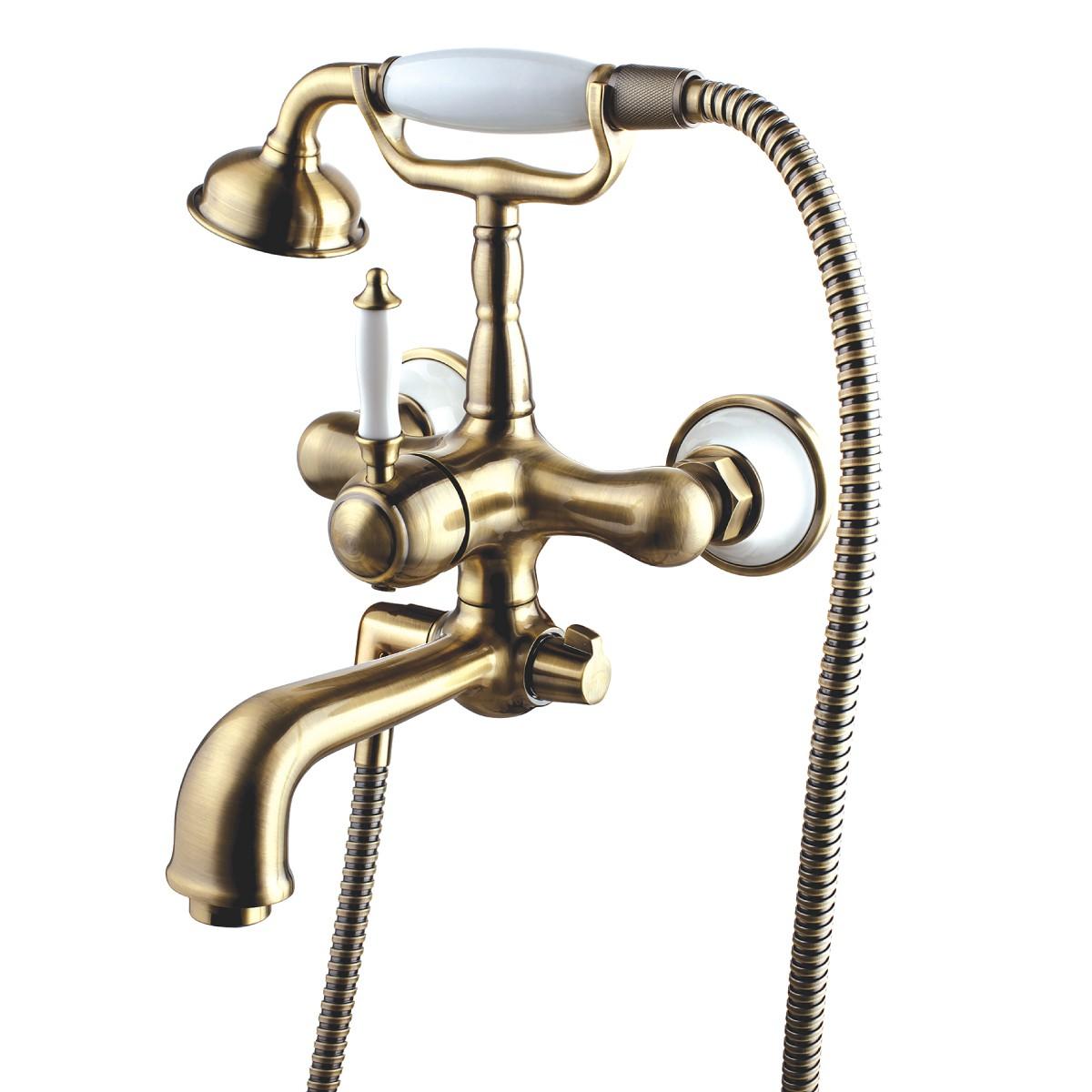 Смеситель для ванны и душа Lemark Villa с коротким изливом, бронза